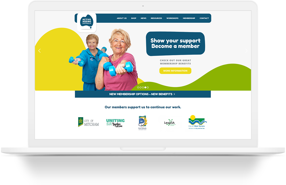 Active Ageing Australia Website Design